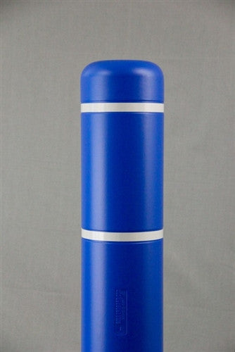 Bollardgard 7 Quot X 52 Quot Blue Bollard Cover With White