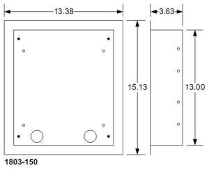 DoorKing 1803-150 Flush Mount Kit for 1810 & 1830 series Outdoor Units