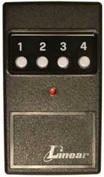 Linear DT-4A 4-Button Remote Control with Visor Clip