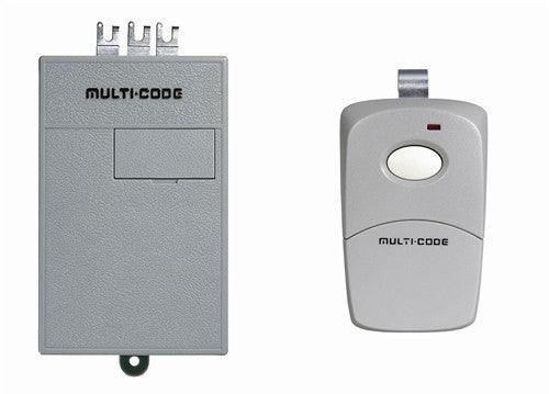 Multi-Code 1011 Single Button Remote with Radio Receiver 24V 300Mhz