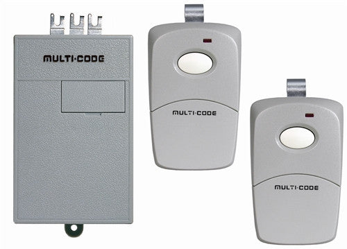Multi-Code Two Single Button Remotes with Radio Receiver 300Mhz