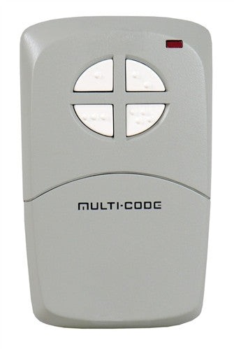 Multi-Code 414001 Four-Button Remote Control with Visor Clip 300Mhz