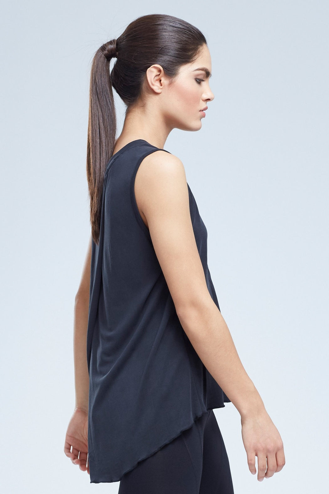 Jovi Sleeveless Muscle Top With Open Back