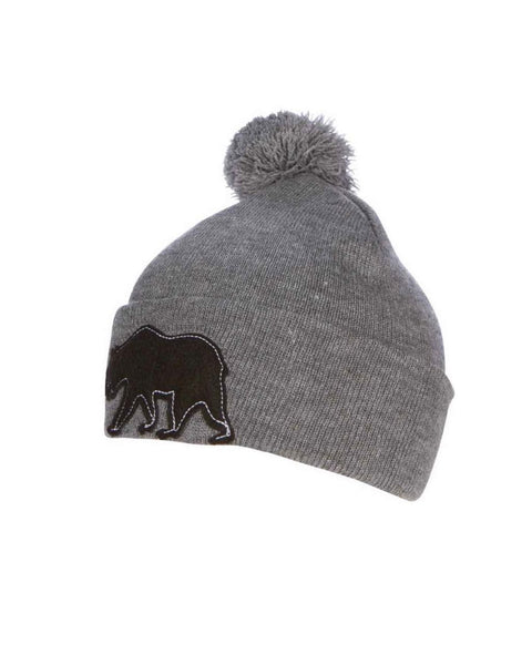 California Republic Bear Felt Patch Beanie