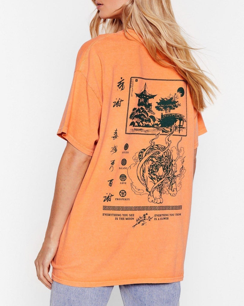 Osaka Relaxed Graphic Tee - Orange