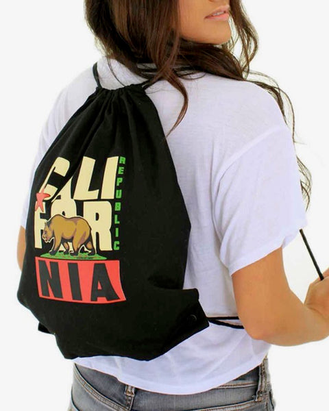 Original Retro Cotton Canvas Drawstring Backpack