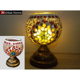 Various colours-a star mosaic candle holder with stand
