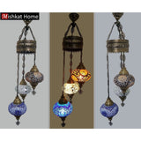 Hanging mosaic chandelier- various colours