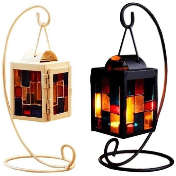 Iron Moroccan Style Christmas Candlestick Lamp