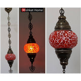 Several designs hanging  mosaic lamp (various colours)