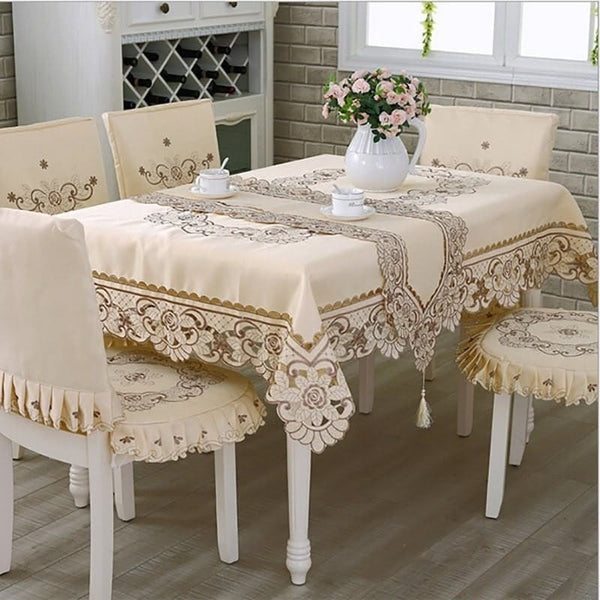 Tablecloth Embroidered Tablecloth Square Floral