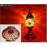 Two avalaible colours spiral shape mosaic table Lamps