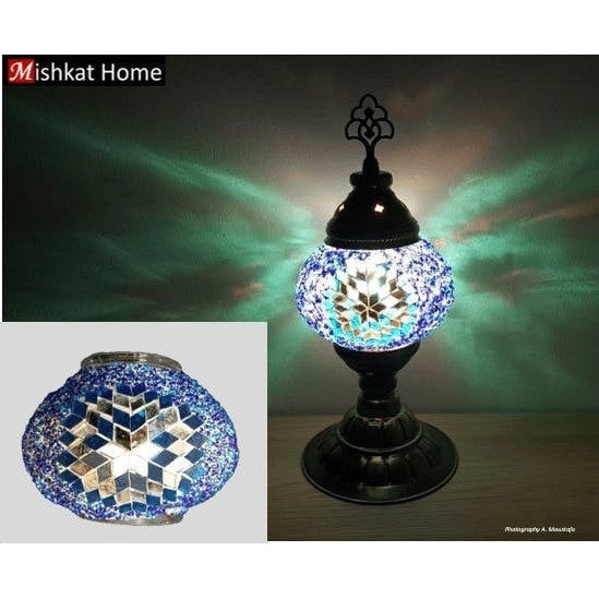 Various Colours Star Shape Mosaic Bedroom Living Room Table Lamps