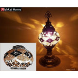 Various colours sultan mosaic table Lamps