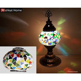 Various colours triangular mosaics Table Lamps
