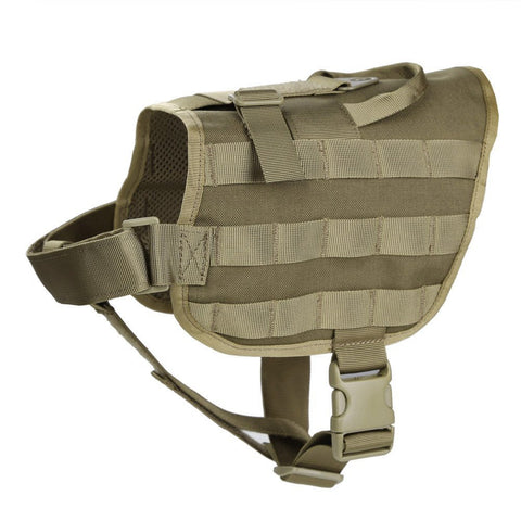 Tactical Police Dog Patrol Harness - Brown
