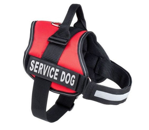 ADJUSTABLE SERVICE DOG VEST HARNESS