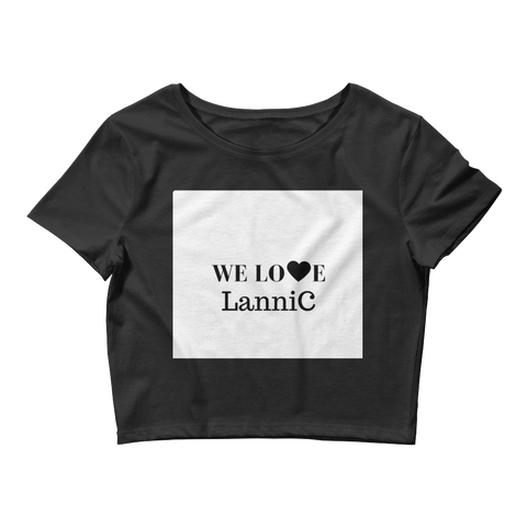 We Love LanniC Crop Tee - LanniC Fashion