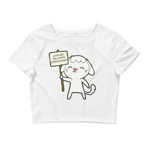 Cute Dog Crop Tee - LanniC Fashion