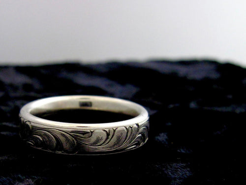 The Nevada - Hand-engraved Ring