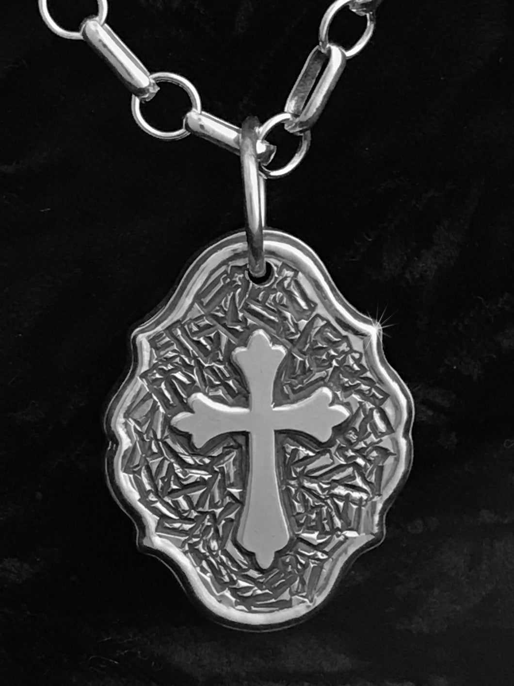 Original celtic cross pendant by Jim Brandvik (top view)