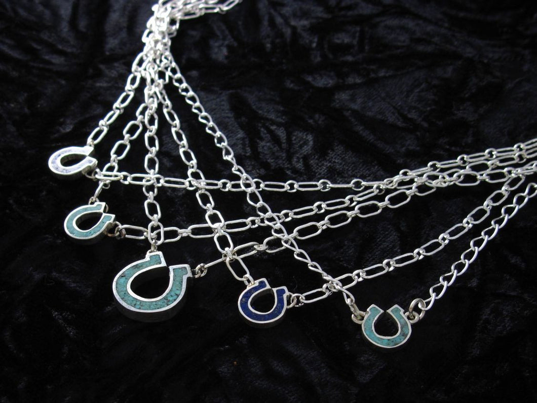 Horseshoe Necklace with Inlay