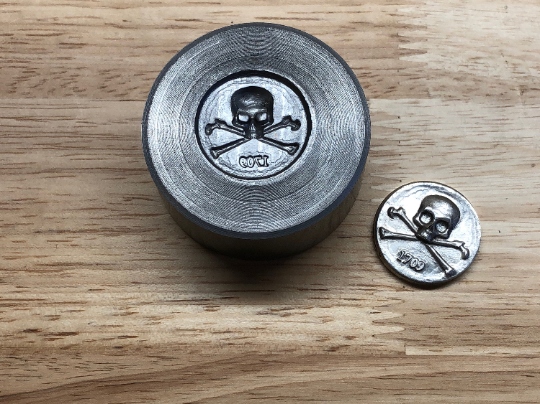Impression Die - Jolly Roger Coin Die