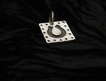 Sterling Horseshoe Square Pendant