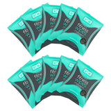 HyperGo Fitness Wipes, Refreshing Mint Scent, (10 Individually Wrapped Wipes)