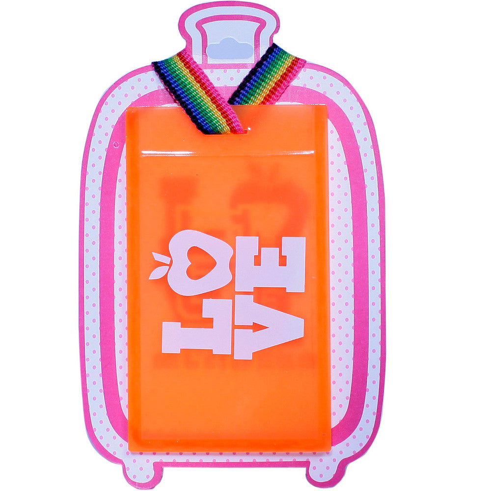 Luggage Tags Orange pink and white