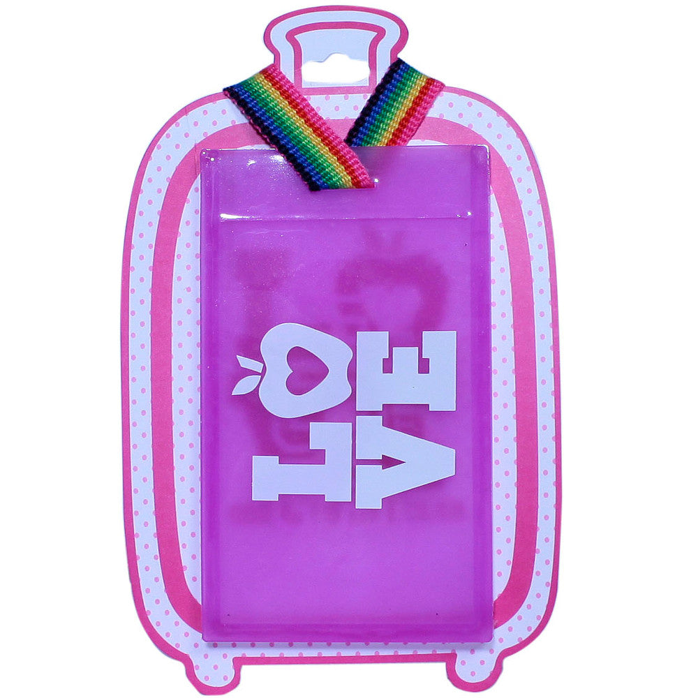 Luggage Tags Purple pink and white