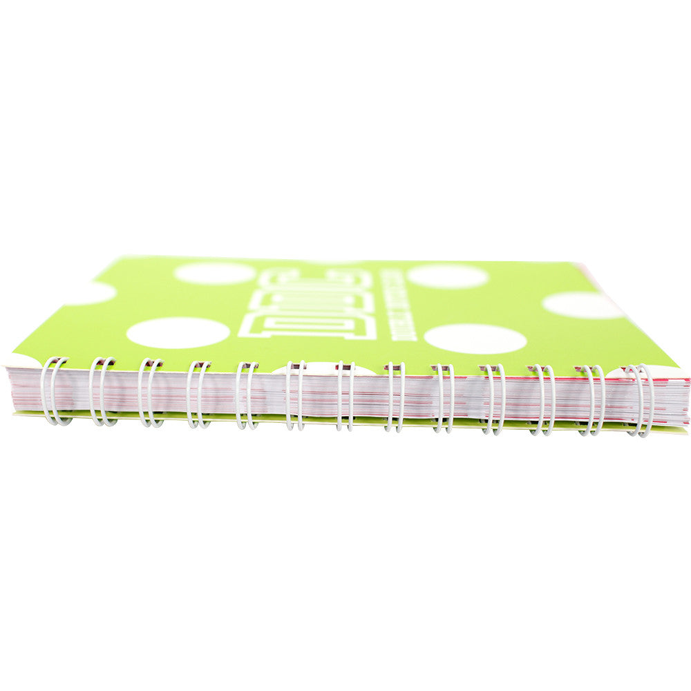 Notebooks Lime Green and white