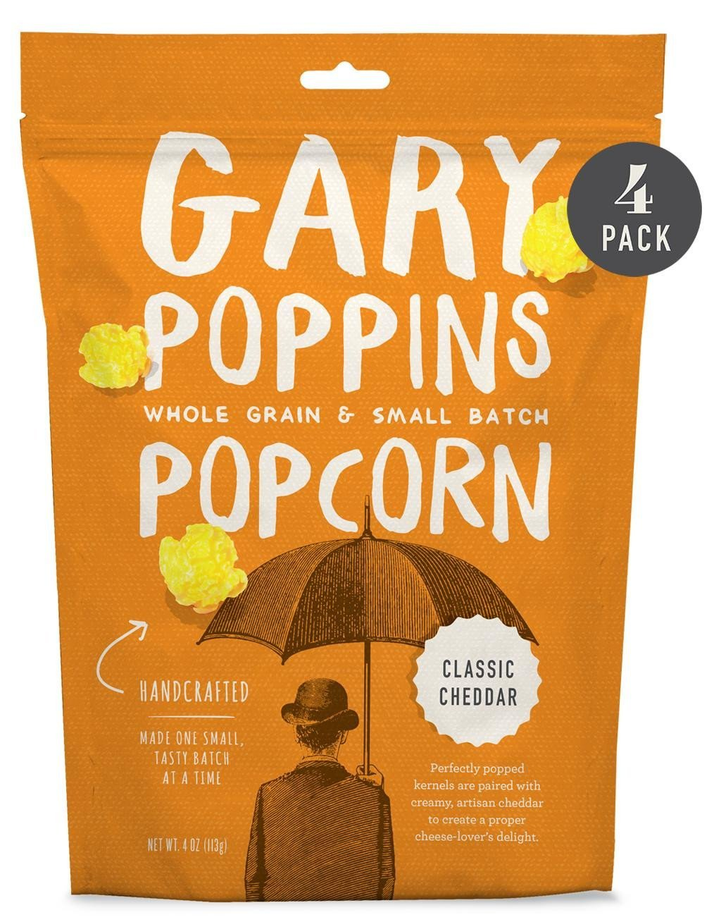 Classic Cheddar - Gourmet Popcorn - Resealable - 4 Pack