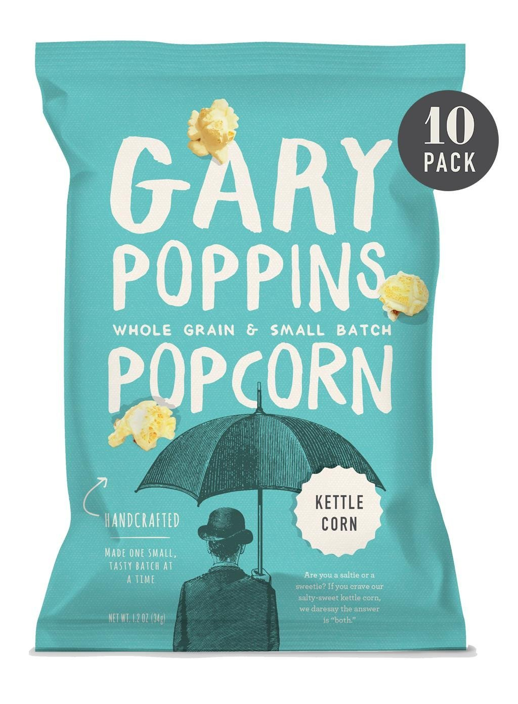 Kettle Corn - Gourmet Popcorn - Single Serve - 10 Pack