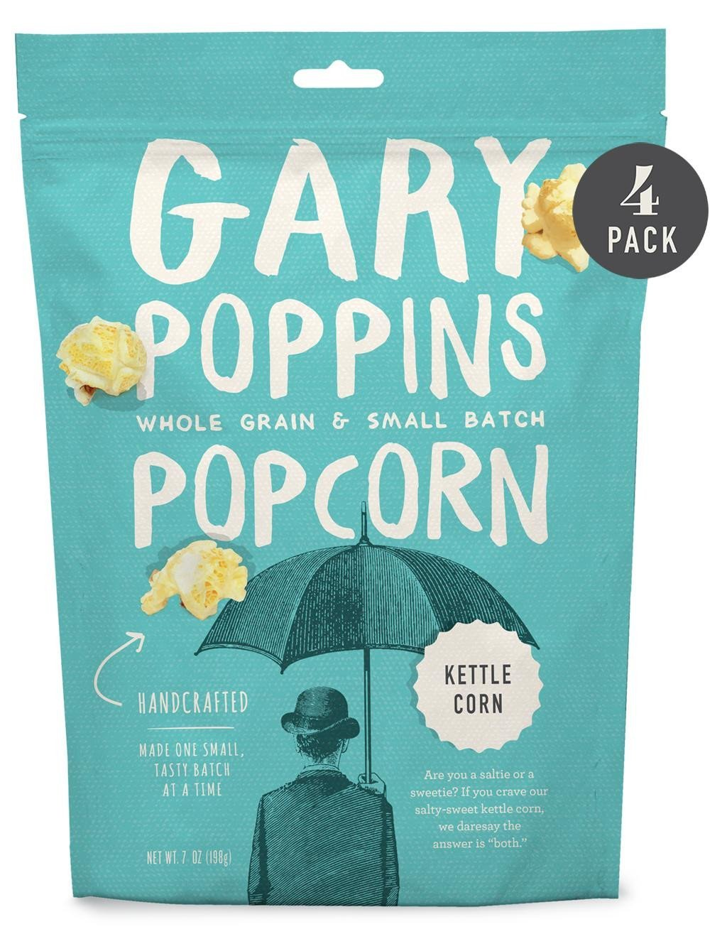 Kettle Corn - Gourmet Popcorn - Resealable - 4 Pack
