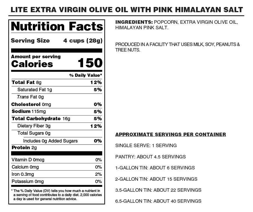 LITE Extra Virgin Olive Oil with Pink Himalayan Salt