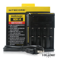 Nitecore I4 4-Channel Battery Charger - Nitecore - E-Cig Vault Vape Shop and Lounge - Aliso Viejo - Laguna Niguel - Laguna Hills - Dana Point - South Orange County