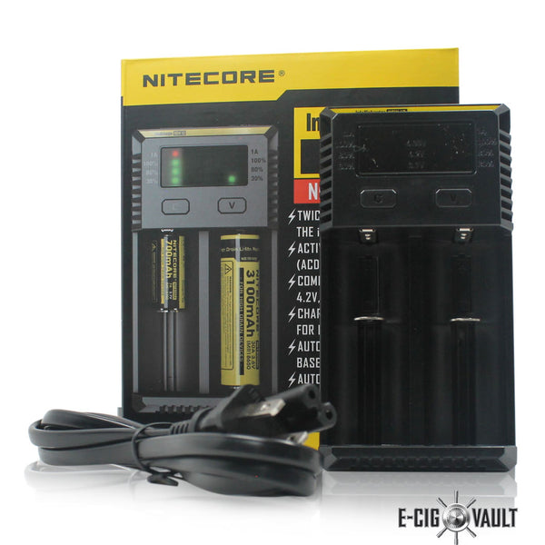 Nitecore I2 2-Channel Battery Charger - Nitecore - E-Cig Vault Vape Shop and Lounge - Aliso Viejo - Laguna Niguel - Laguna Hills - Dana Point - South Orange County