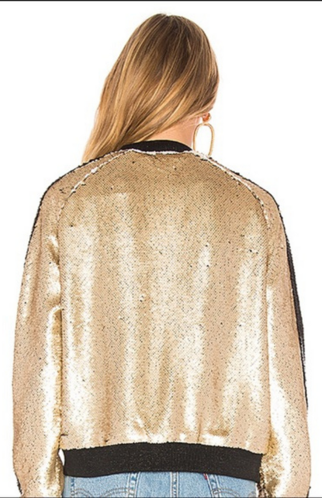 Gold Sequin Bomber