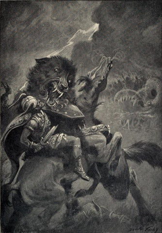 """Odin and Fenrir"" by Dorothy Hardy (1909)"