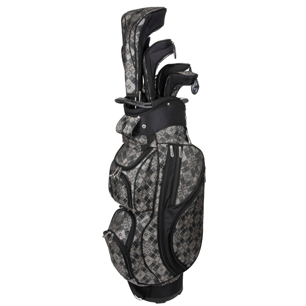 Nancy Lopez  Diva Package Set Black Plaid (Left Hand) Black Plaid