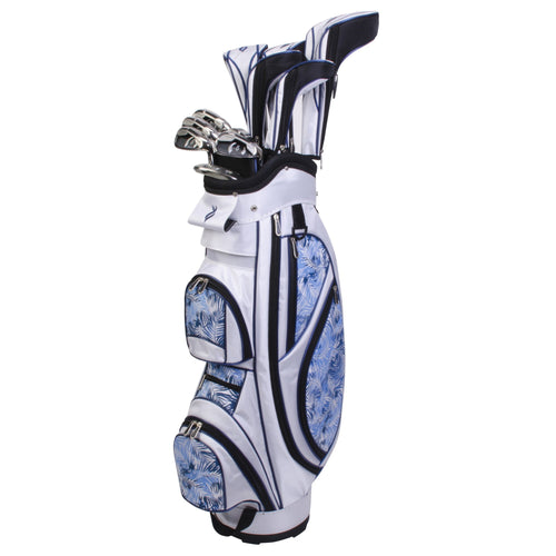 Nancy Lopez Ashley Package Set White/Blue Tropic (Right Hand)