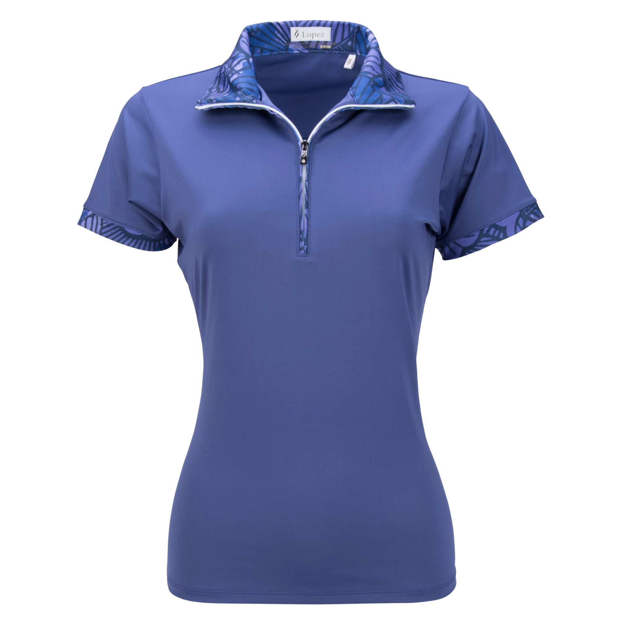 Nancy Lopez Fever Short Sleeve Polo Plus Midnight Multi