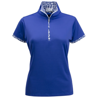 Nancy Lopez Wild Short Sleeve Polo Twilight/White