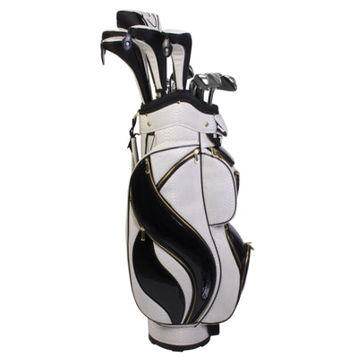 Nancy Lopez Flame Package Set White/Black Python (Right Hand)