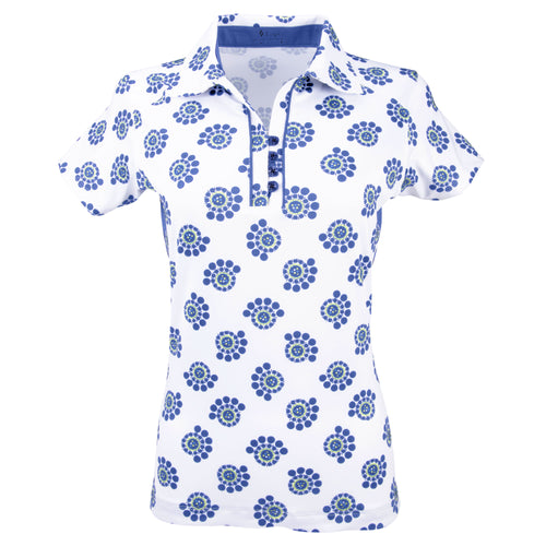 Nancy Lopez Golf Bloom Short Sleeve Polo Plus Midnight Multi