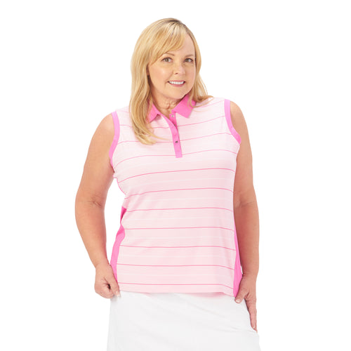 Nancy Lopez Dream Sleeveless Polo Plus Cameo Multi