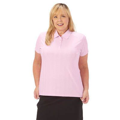 Nancy Lopez Golf Grace Short Sleeve Polo Plus