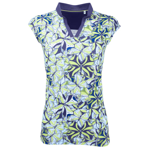 Nancy Lopez Golf Hope Sleeveless Polo Plus Midnight Multi