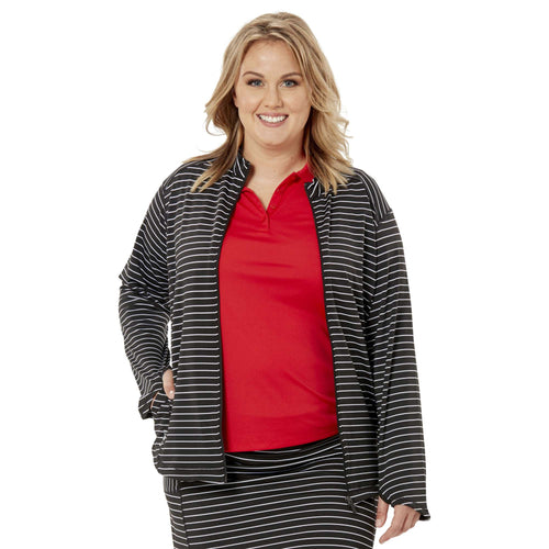 Nancy Lopez Jazzy Jacket Plus Black/White